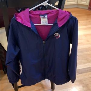 Women's Adidas warm up jacket.
